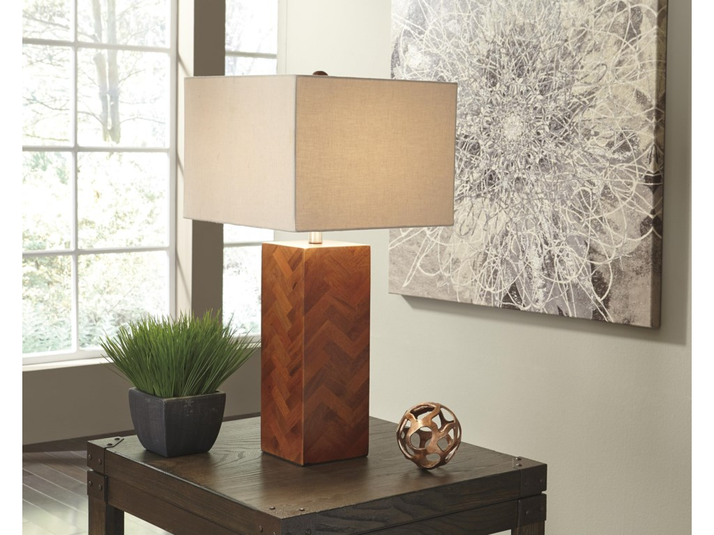 Signature Design by Ashley Lamps - ContemporaryTabeal Wood Table Lamp