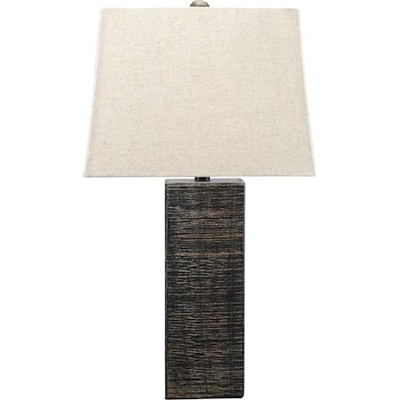 Set of 2 Mahak Black Wood Table Lamps