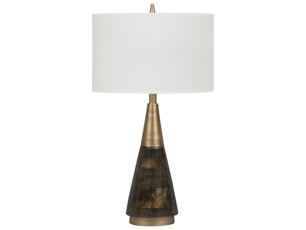 Signature Design by Ashley Lamps - ContemporaryLyrah Black/Gold Finish Wood Table Lamp