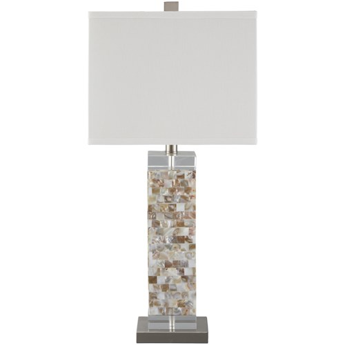 Signature Design by Ashley Lamps - Contemporary Tahira Shell Table Lamp