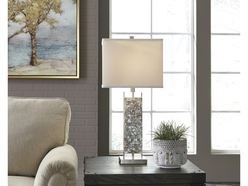 Signature Design by Ashley Lamps - ContemporaryTahira Shell Table Lamp