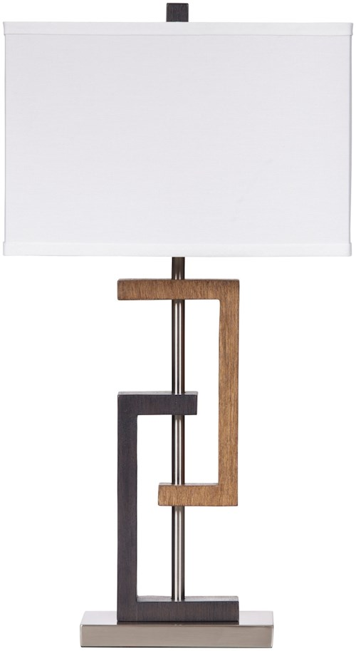 Signature Design by Ashley Lamps - Contemporary Set of 2 Syler Poly Table Lamps
