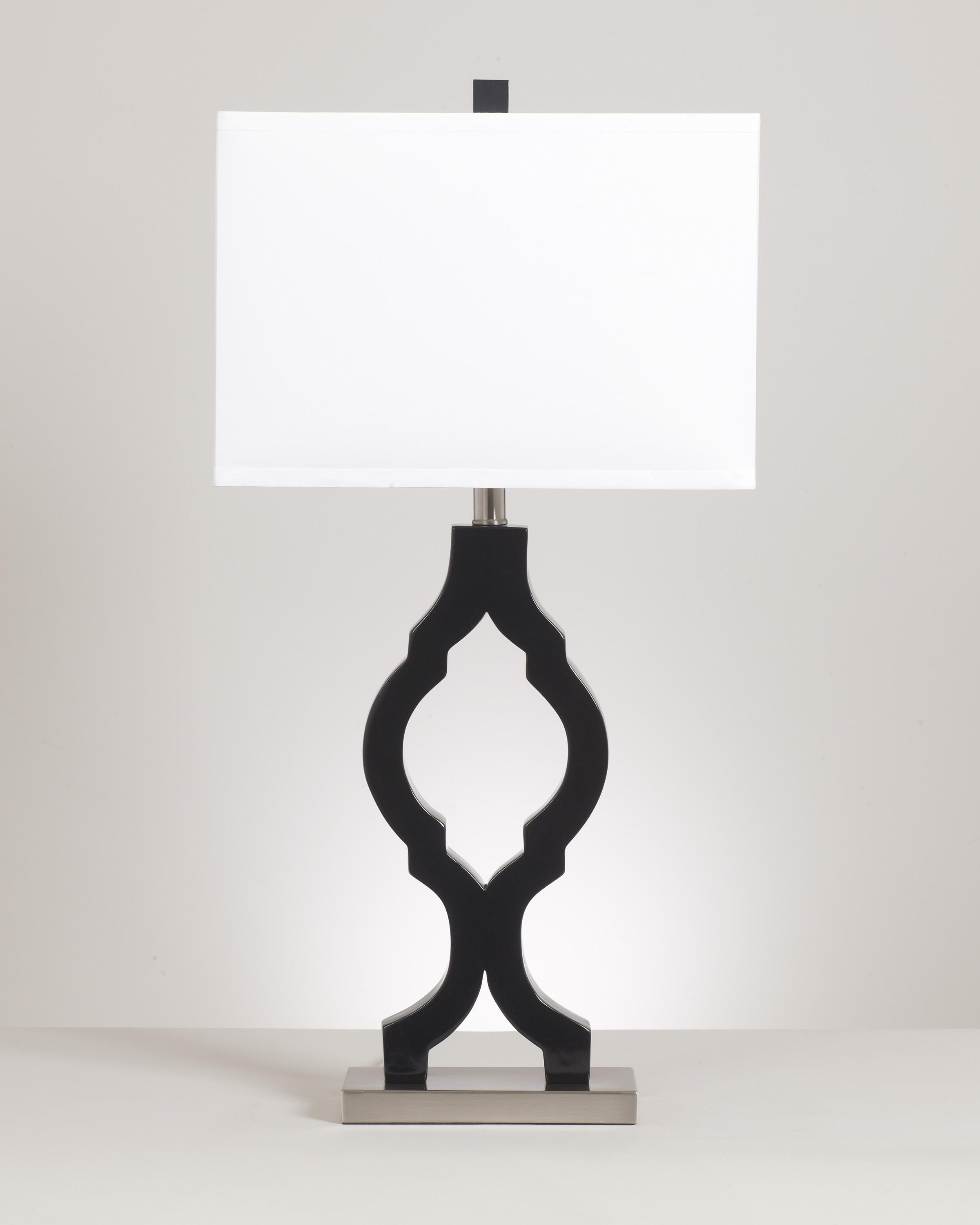 Signature Design By Ashley Lamps   Contemporary Set Of 2 Rosetta Poly Table  Lamps