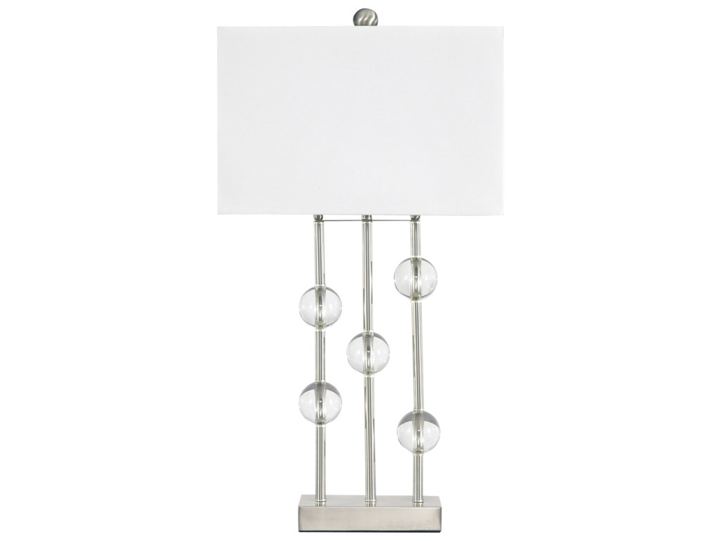 Signature Design by Ashley Lamps - ContemporaryJaala Clear/Silver Finish Metal Lamp