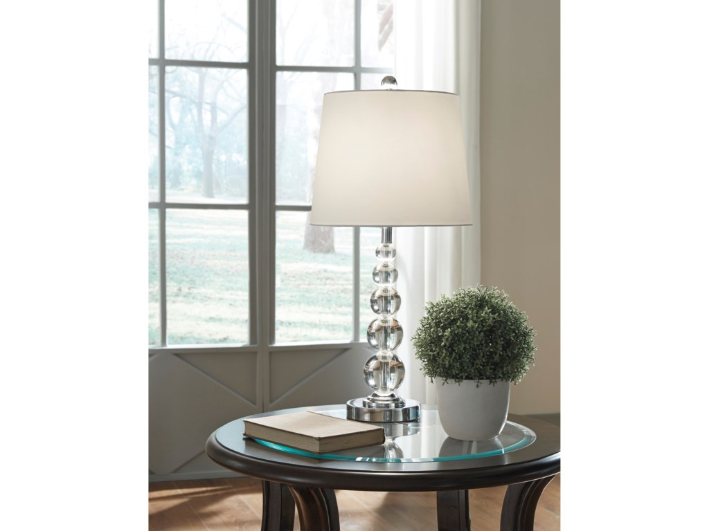 Ashley (Signature Design) Lamps - ContemporarySet of 2 Joaquin Clear/Silver Table Lamps