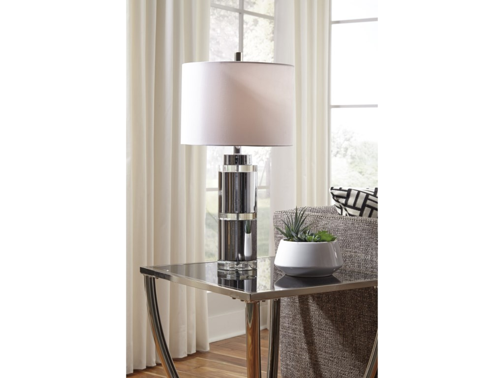 Signature Design by Ashley Lamps - ContemporarySet of 2 Makram Metal Table Lamps