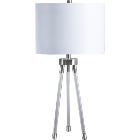Idalia Clear/Silver Acrylic Table Lamp