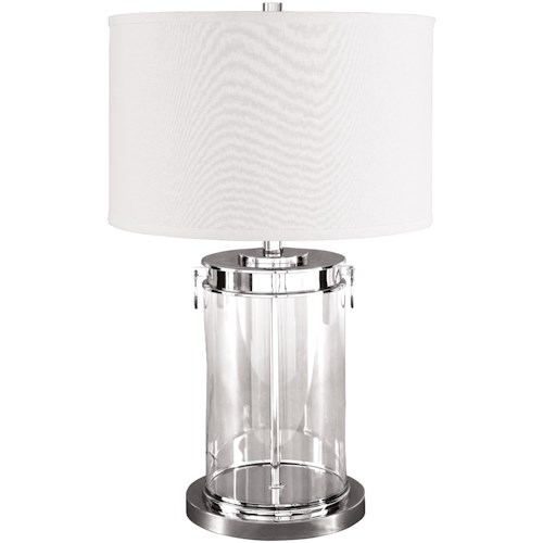 Signature Design by Ashley Lamps - Contemporary Tailynn Glass Table Lamp