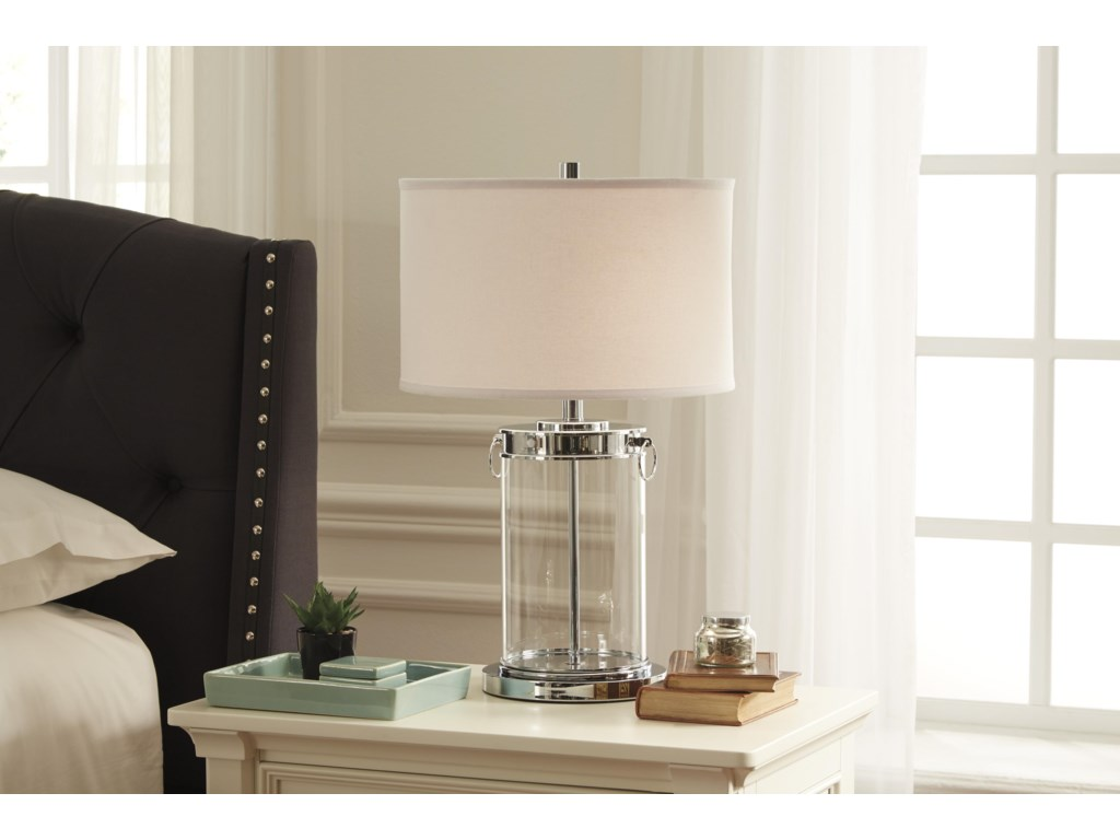 Signature Design by Ashley Lamps - ContemporaryTailynn Glass Table Lamp