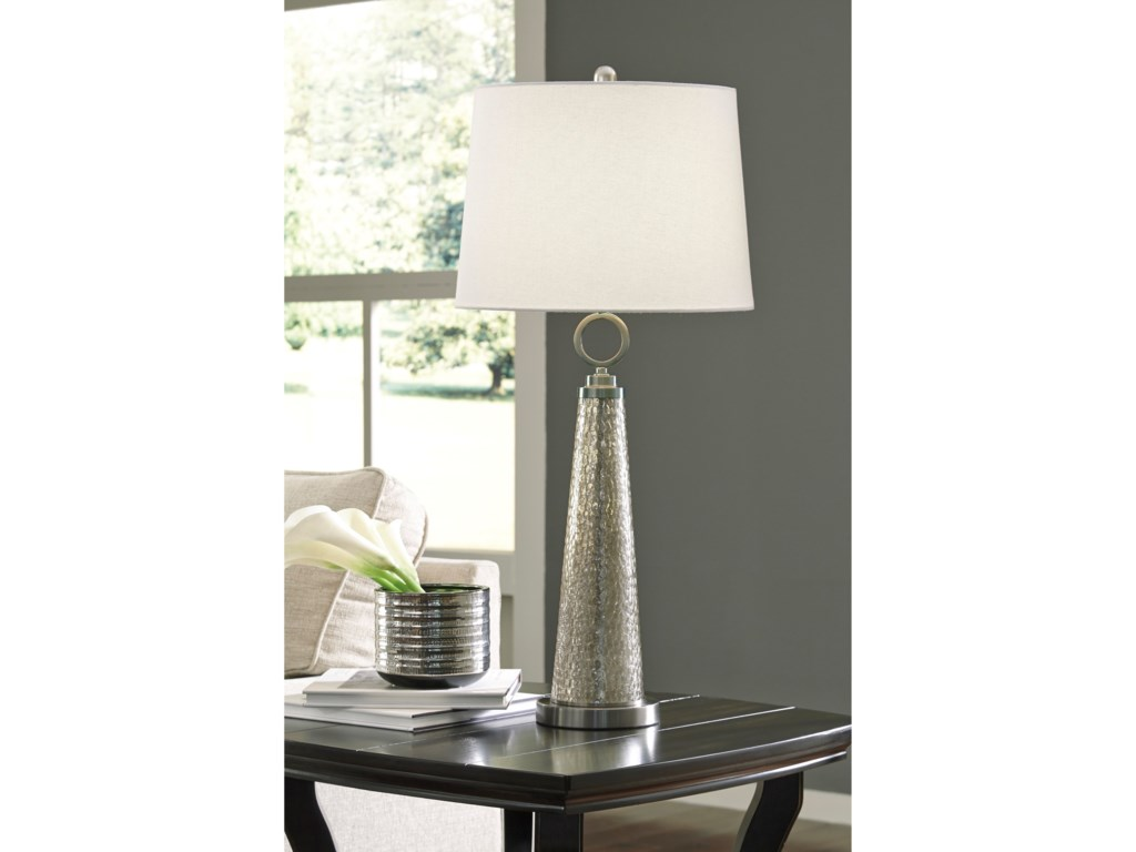 Signature Design by Ashley Lamps - ContemporaryArama Mercury Glass Table Lamp