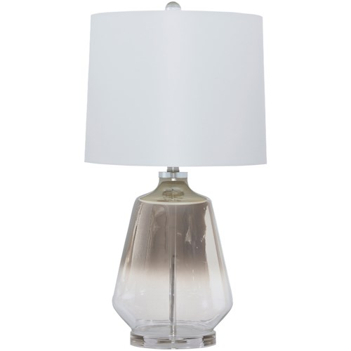 Signature Design by Ashley Lamps - Contemporary Jaslyn Glass Table Lamp