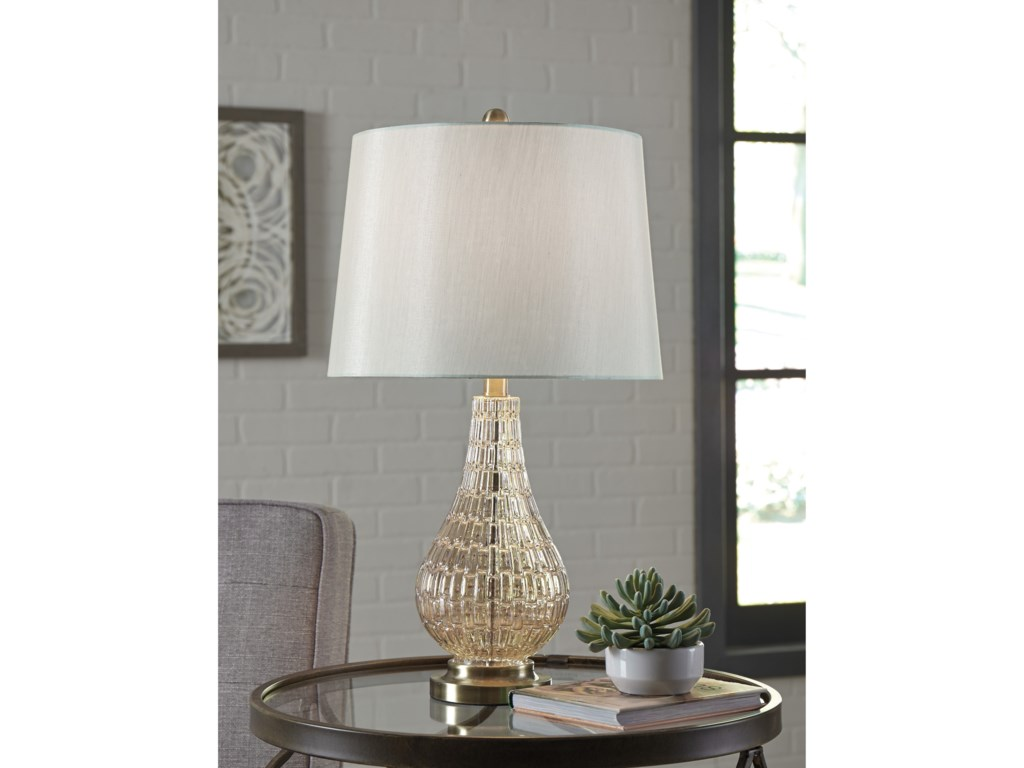 Signature Design by Ashley Lamps - ContemporaryLatoya Glass Table Lamp