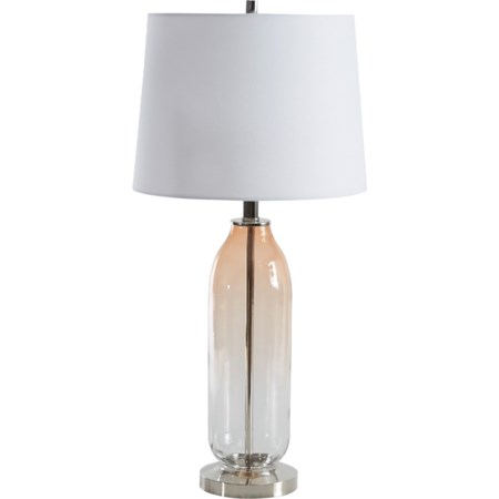 Sheyla Clear/Pink Glass Table Lamp