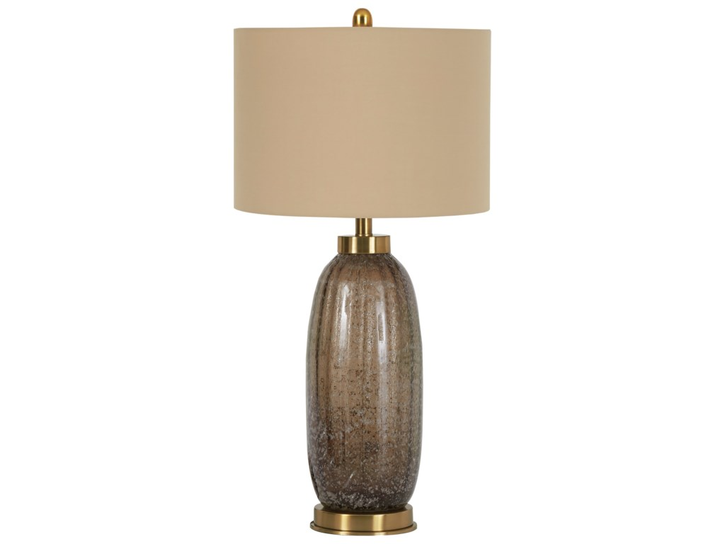 Signature Design by Ashley Lamps - ContemporarySet of 2 Aaronby Taupe Glass Table Lamps