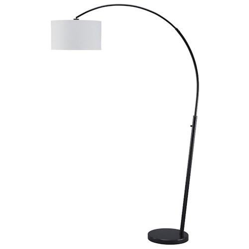 Signature Design by Ashley Lamps - Contemporary Shawny Metal Arc Lamp