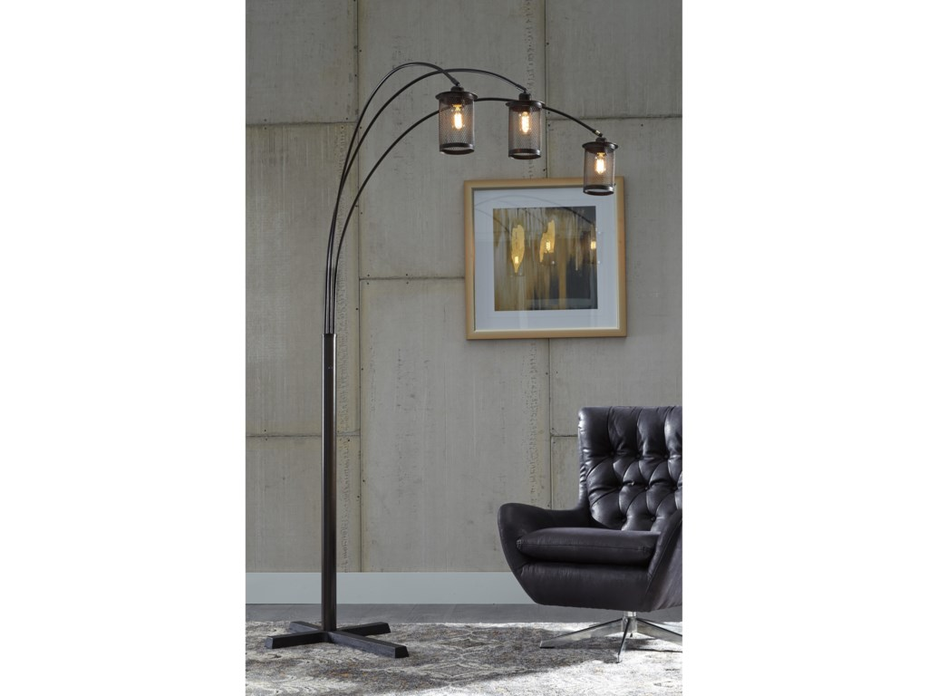 Signature Design by Ashley Lamps - ContemporaryMaovesa Bronze Metal Arc Lamp