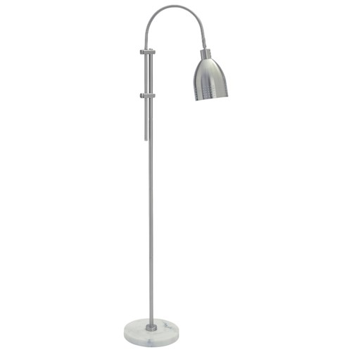 Signature Design by Ashley Lamps - Contemporary Asabi Silver Finish/Marble Metal Floor Lamp