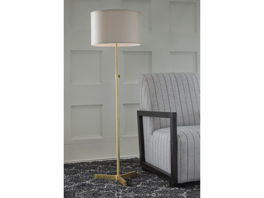 Signature Design by Ashley Lamps - ContemporaryLaurinda Floor Lamp