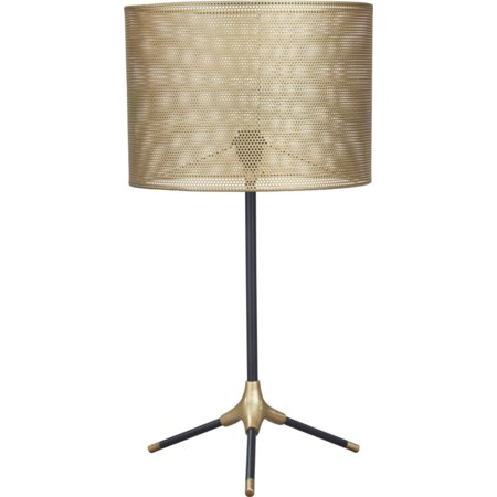 Mance Gray/Brass Finish Metal Table Lamp