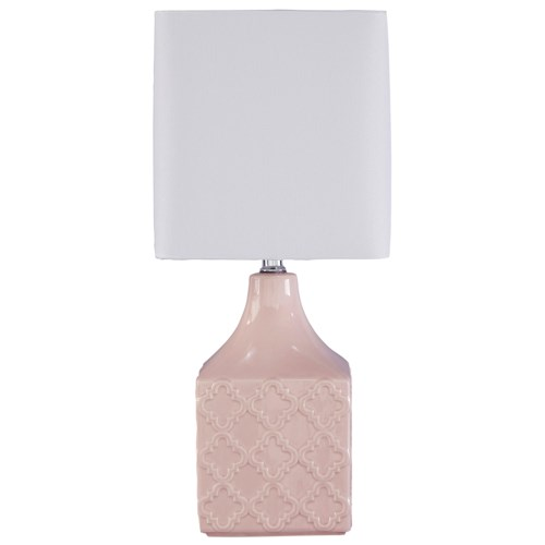 Signature Design by Ashley Lamps - Contemporary Simmone Ceramic Table Lamp