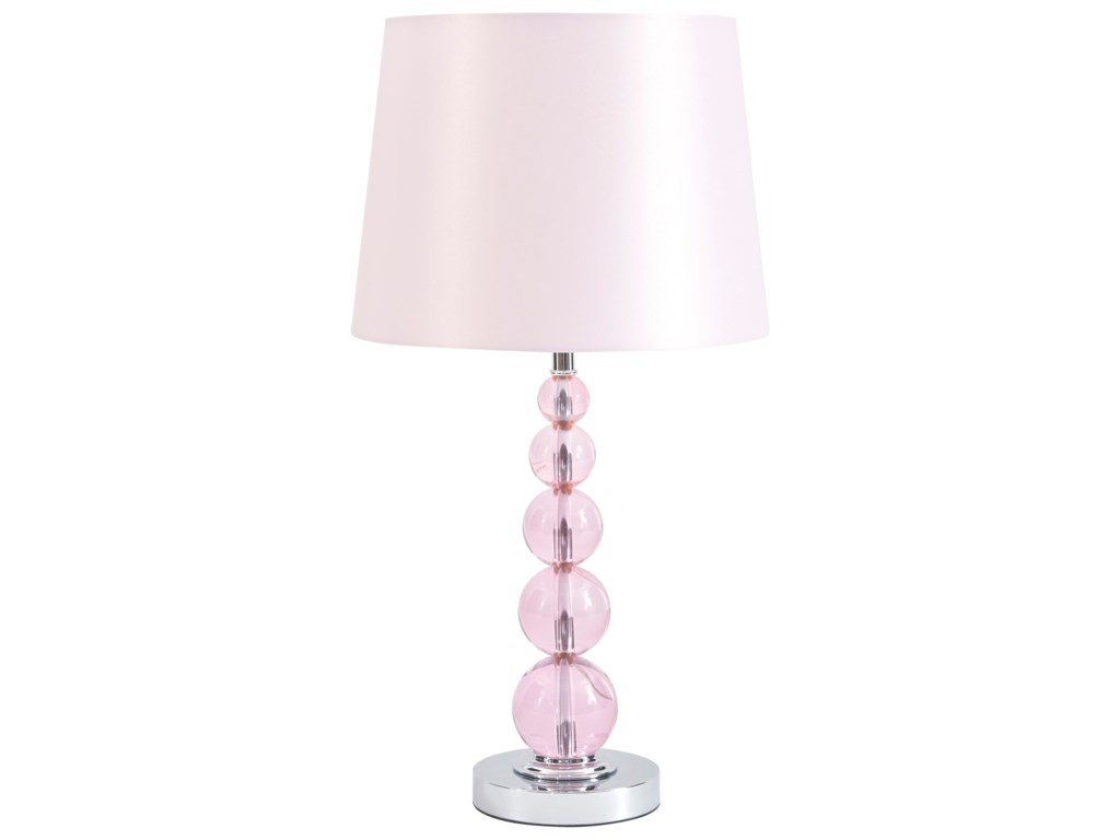 Signature Design by Ashley Lamps - ContemporaryLetty Pink Table Lamp