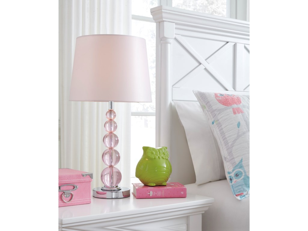 Ashley (Signature Design) Lamps - ContemporaryLetty Pink Table Lamp