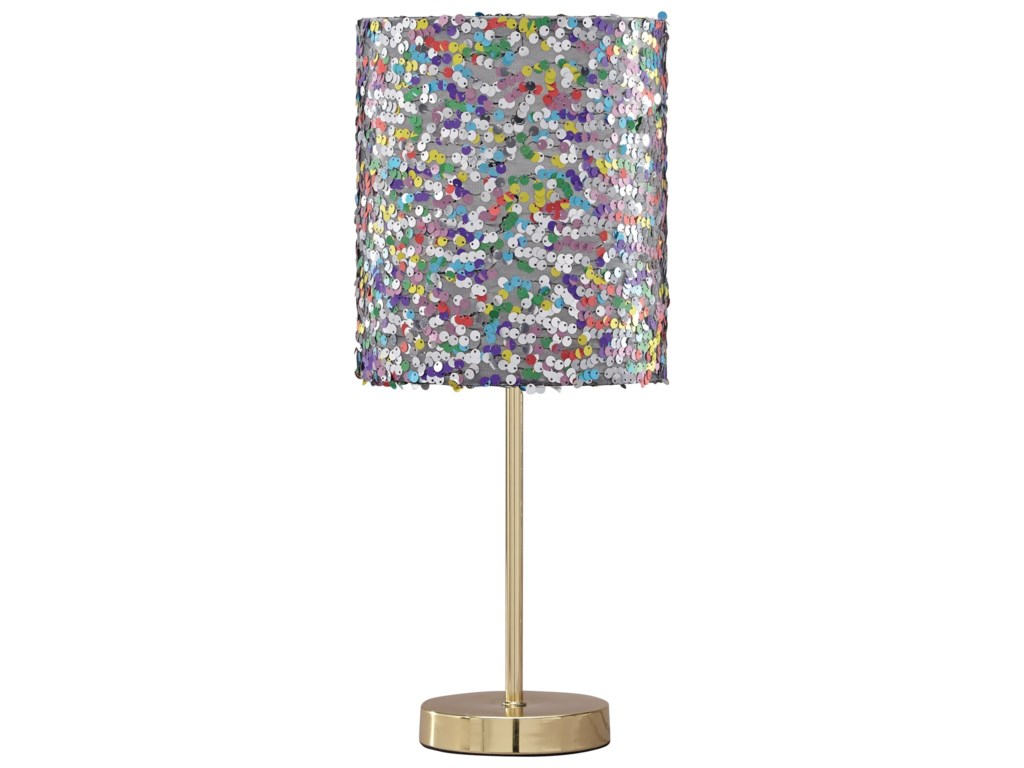 Signature Design by Ashley Lamps - ContemporaryMaddy Multi Metal Table Lamp