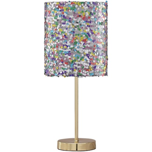 Signature Design by Ashley Lamps - Contemporary Maddy Multi Metal Table Lamp