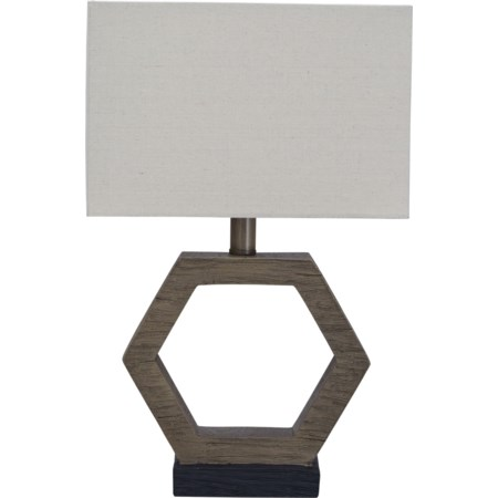 Marilu Faux Wood Table Lamp