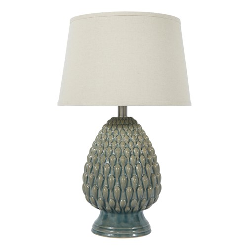 Signature Design by Ashley Lamps - Vintage Style Saidee - Teal Ceramic Table Lamp