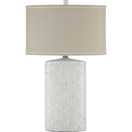 Shelvia Antique White Ceramic Table Lamp