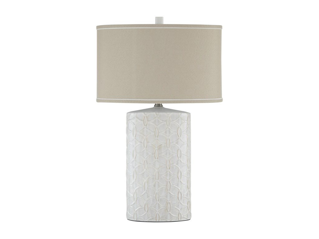 Signature Design by Ashley Lamps - Vintage StyleShelvia Antique White Ceramic Table Lamp