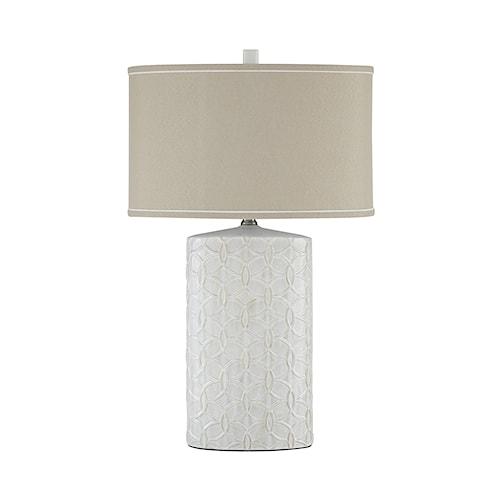 Signature Design by Ashley Lamps - Vintage Style Shelvia Antique White Ceramic Table Lamp