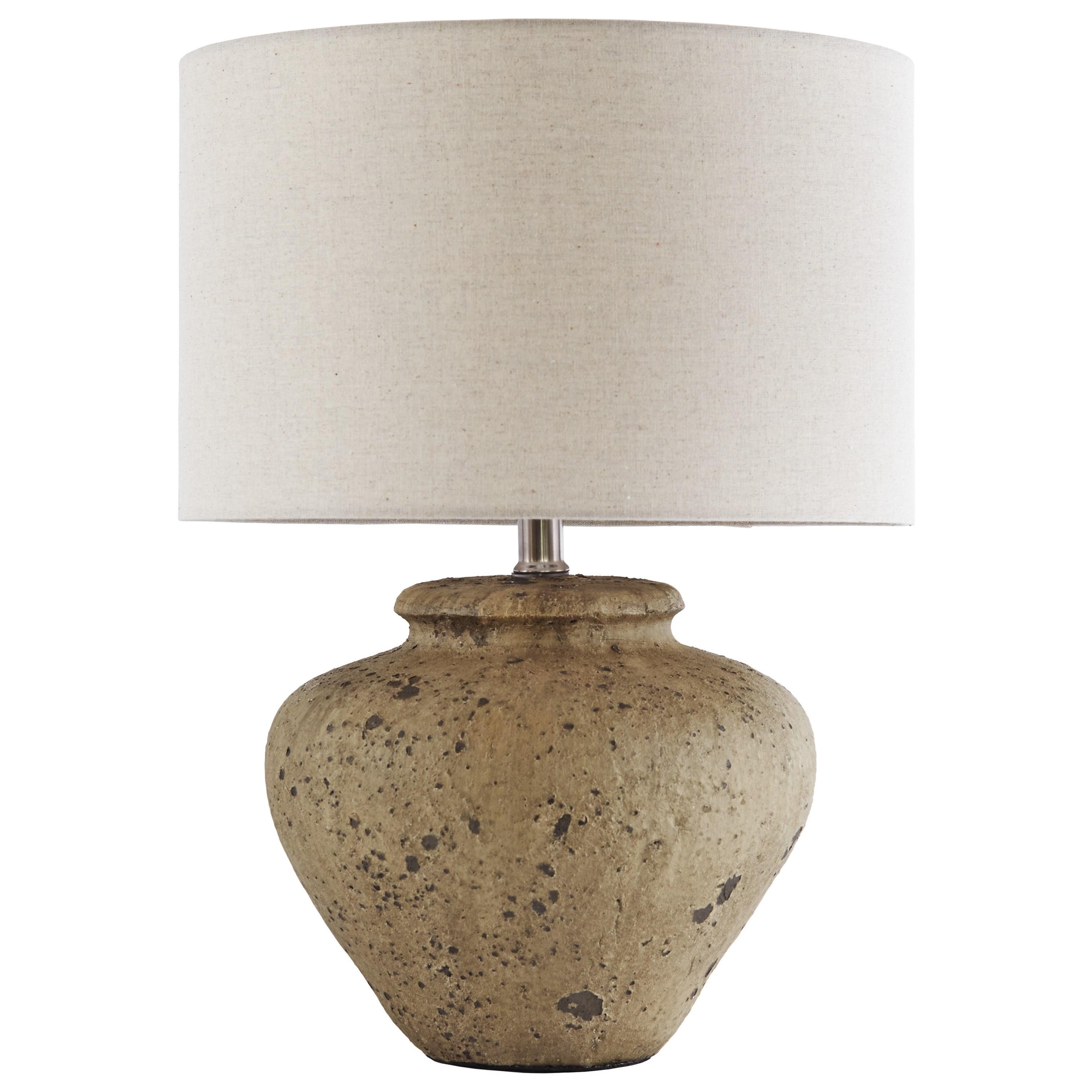 Ashley Signature Design Lamps   Vintage StyleMahfuz Beige Ceramic Table Lamp  ...