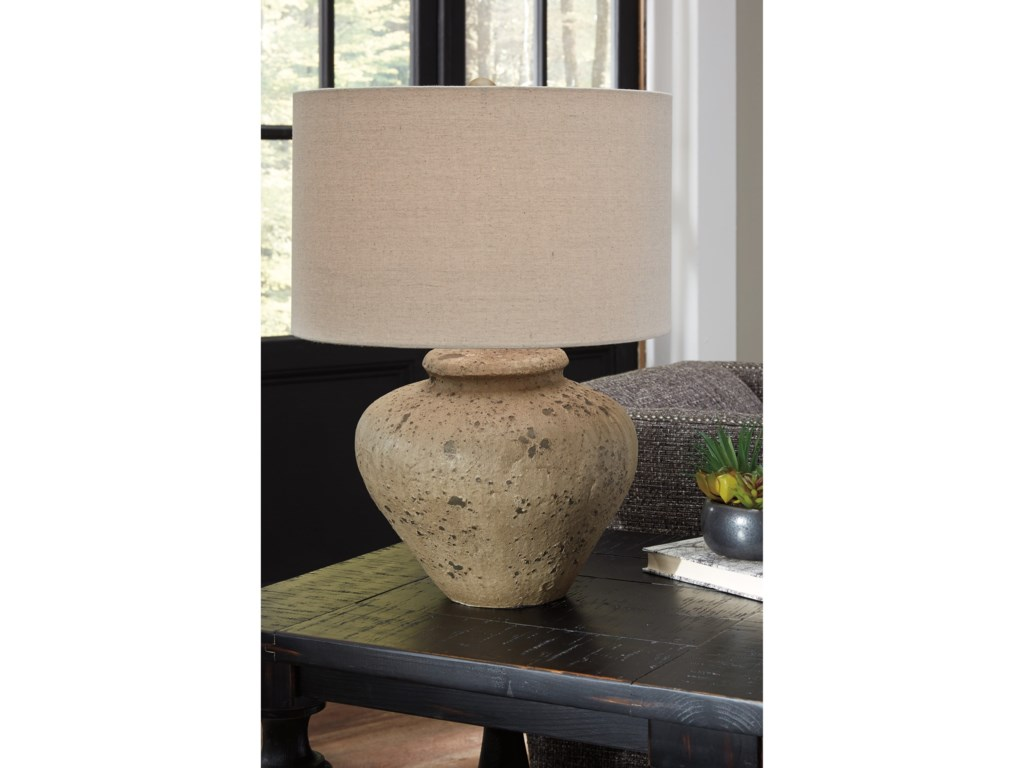 Ashley Signature Design Lamps - Vintage StyleMahfuz Beige Ceramic Table Lamp