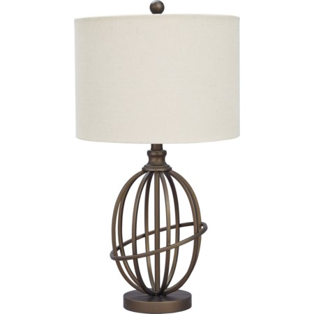 Manase Bronze Finish Metal Table Lamp