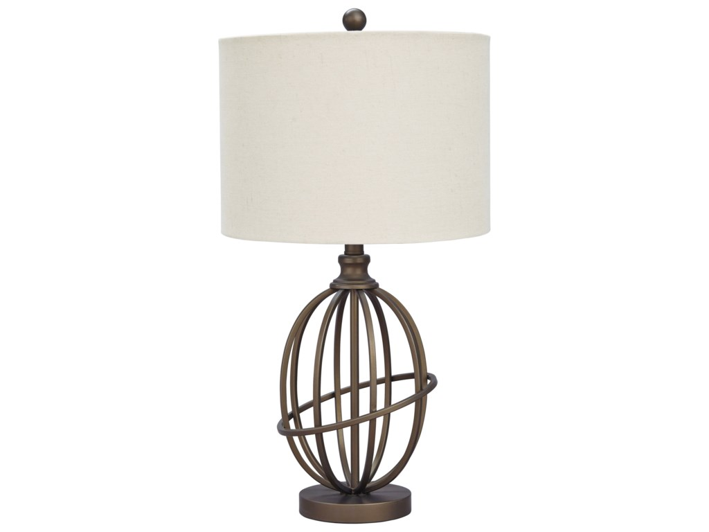 Signature Design by Ashley Lamps - Vintage StyleManase Bronze Finish Metal Table Lamp