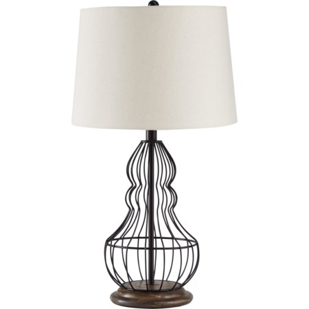 Set of 2 Maconaque Black Metal Table Lamps