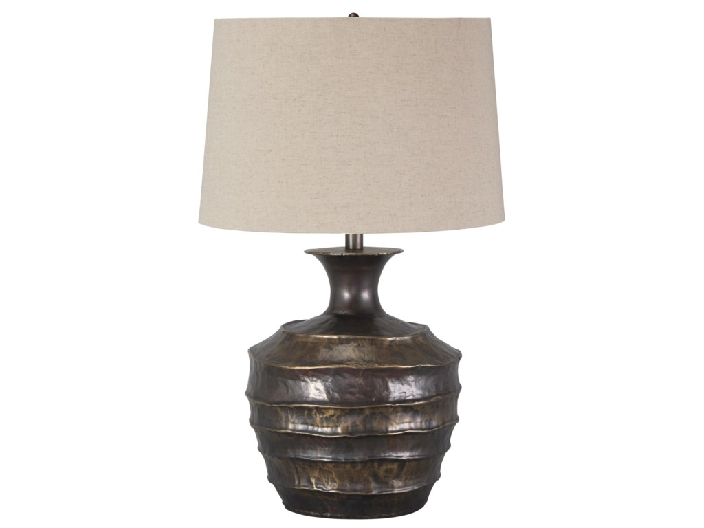 Ashley signature design lamps vintage style kymani metal table ashley signature design lamps vintage style kymani metal table lamp dunk bright furniture table lamps geotapseo Image collections