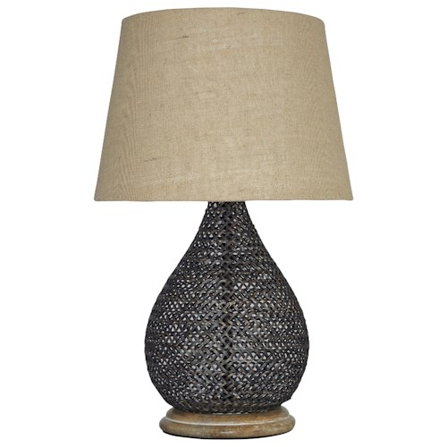 Signature Design by Ashley Lamps - Vintage Style Aimon Bronze Finish Table Lamp