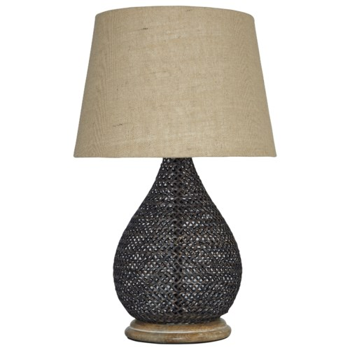 Signature Design By Ashley Lamps Vintage Style Aimon Bronze Finish