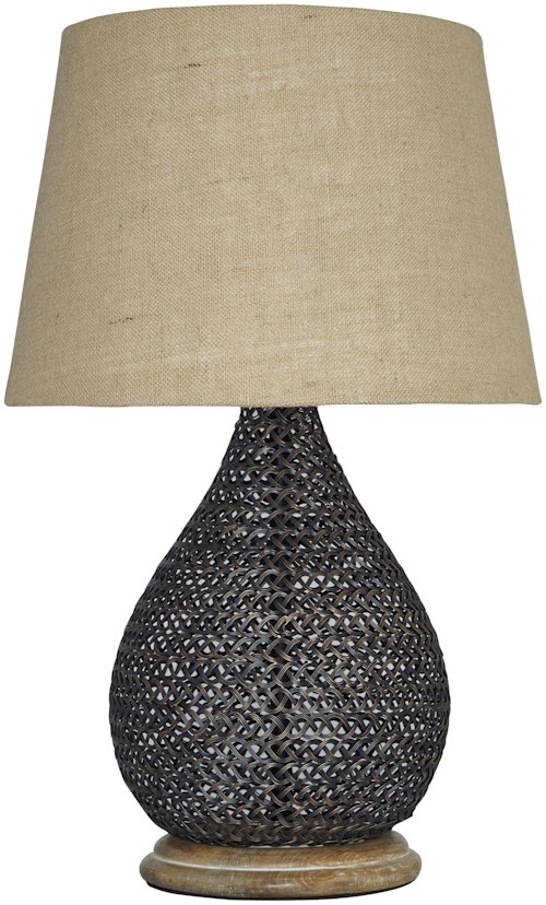 Signature design by ashley lamps vintage style aimon bronze finish table lamp