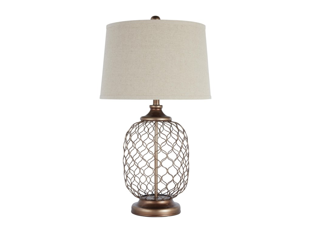 Signature Design By Ashley Lamps Vintage Style L207824 Metal Table