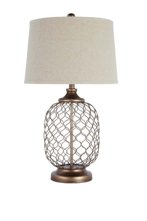 Signature design by ashley lamps vintage style metal table lamp