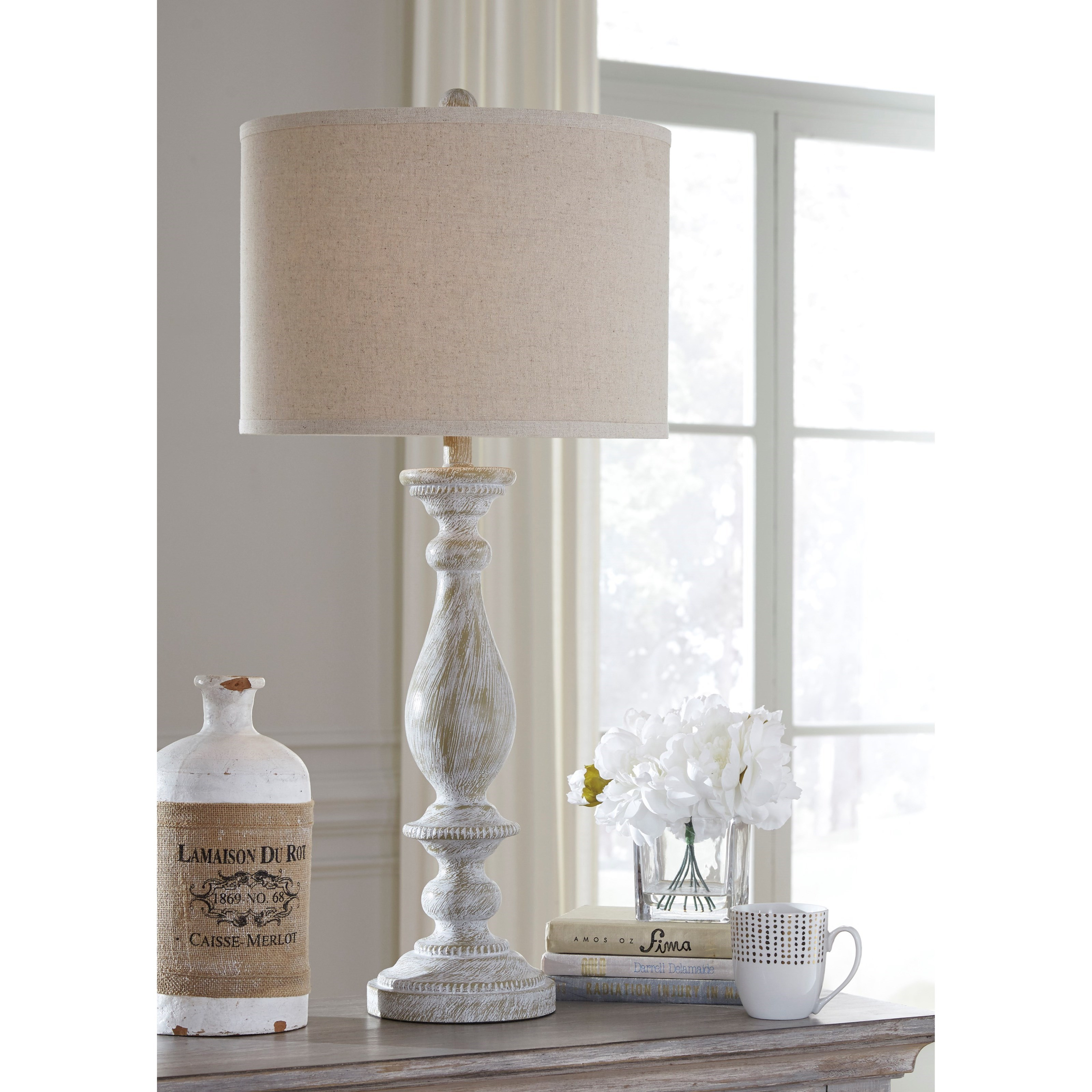 Attractive ... Signature Design By Ashley Lamps   Vintage StyleSet Of 2 Bernadate  Whitewash Table Lamps