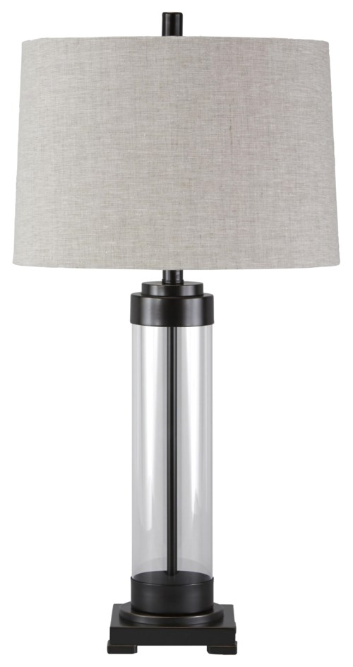 Signature design by ashley lamps vintage style talar glass table lamp