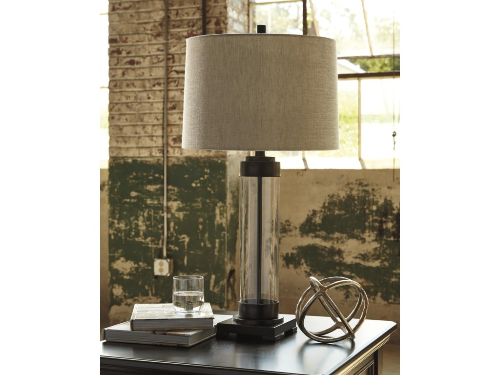 Signature Design by Ashley Lamps - Vintage StyleTalar Glass Table Lamp