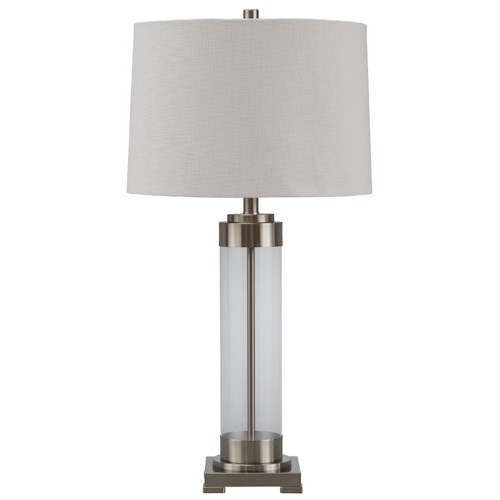Signature Design by Ashley Lamps - Vintage Style Talar Glass Table Lamp