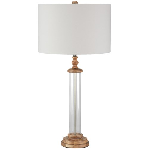 Signature Design by Ashley Lamps - Vintage Style Tabby Glass Table Lamp