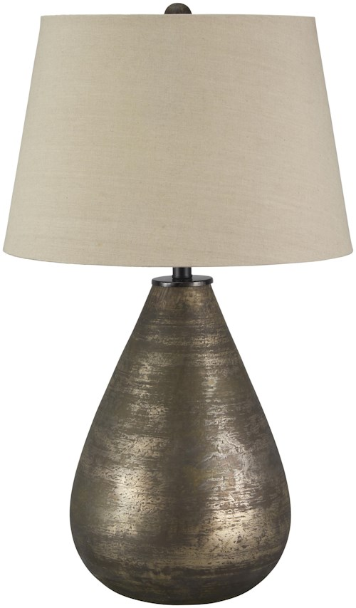 Signature design by ashley lamps vintage style tabler glass table lamp